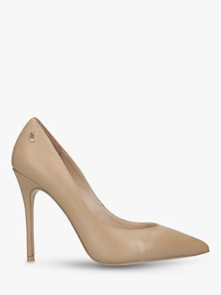 Kurt Geiger London Soho Leather Stiletto Heel Court Shoes, Brown Camel