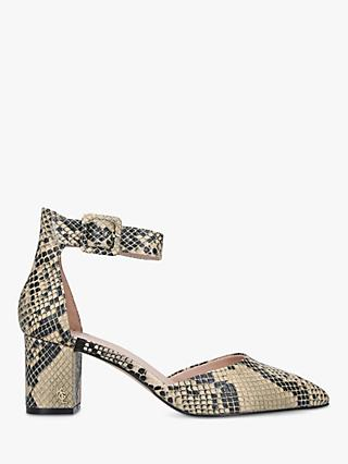 Kurt Geiger London Burlington Block Heel Court Shoes, Snake Print