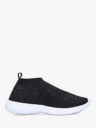 Carvela Comfort Cambrie Embellished Sock Trainers, Black