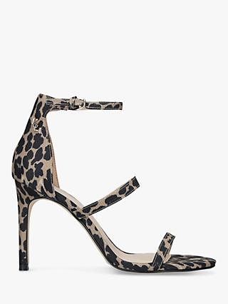 Kurt Geiger London Park Lane Stiletto Heel Sandals, Cream