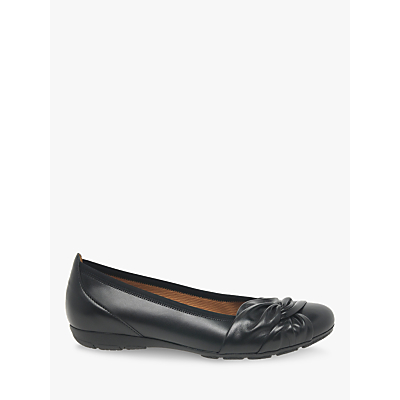 Image of Gabor Claredon Leather Tie Detail Pumps, Black
