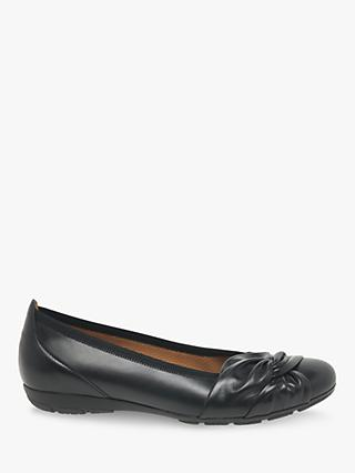 Gabor Claredon Leather Tie Detail Pumps, Black