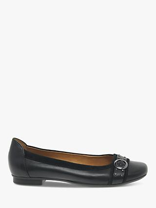Gabor Michelle Stud Embellished Leather Pumps, Black