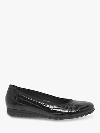 Gabor Splash Wide Fit Patent Leather Pumps
