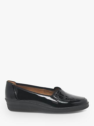 Gabor Blanche Wide Fit Patent Pumps, Black