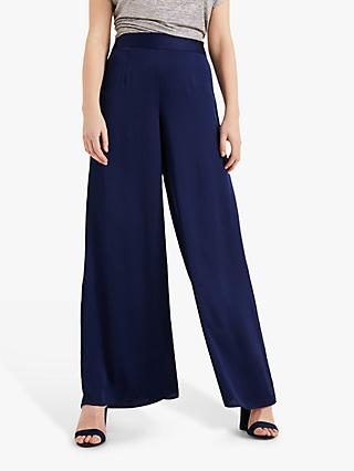 Phase Eight Rosina Satin Trousers, Navy