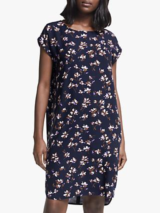 ARMEDANGELS Hilaa Floral Print Dress, Evening Blue
