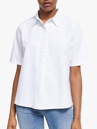 ARMEDANGELS Saimaa Short Sleeve Blouse, White