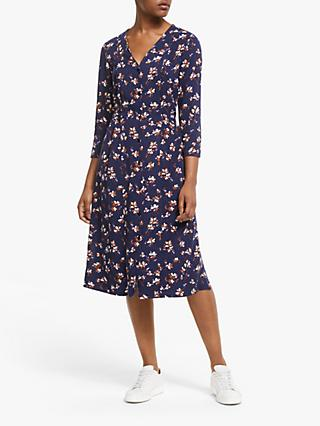 ARMEDANGELS Etnaa Floral Print Dress, Evening Blue