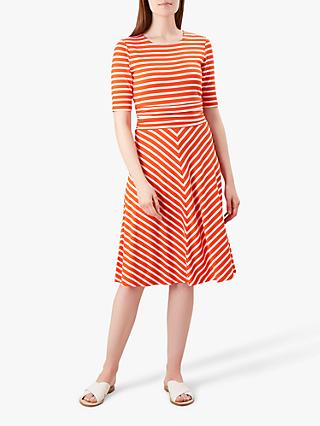 Hobbs Bayview Dress, Mango/White