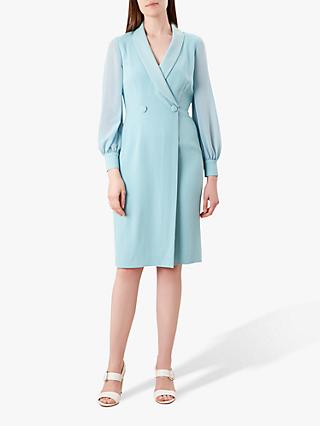 Hobbs Lana Tux Dress, Aqua