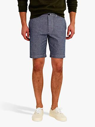 J.Crew Stretch Chambray Chino Shorts, Royal Navy