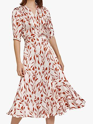 Ghost Connie Dress, White/Red