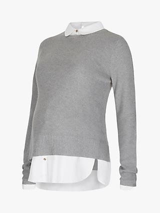 b747e13d1eb64b Séraphine Marianne Textured Maternity Shirt Jumper