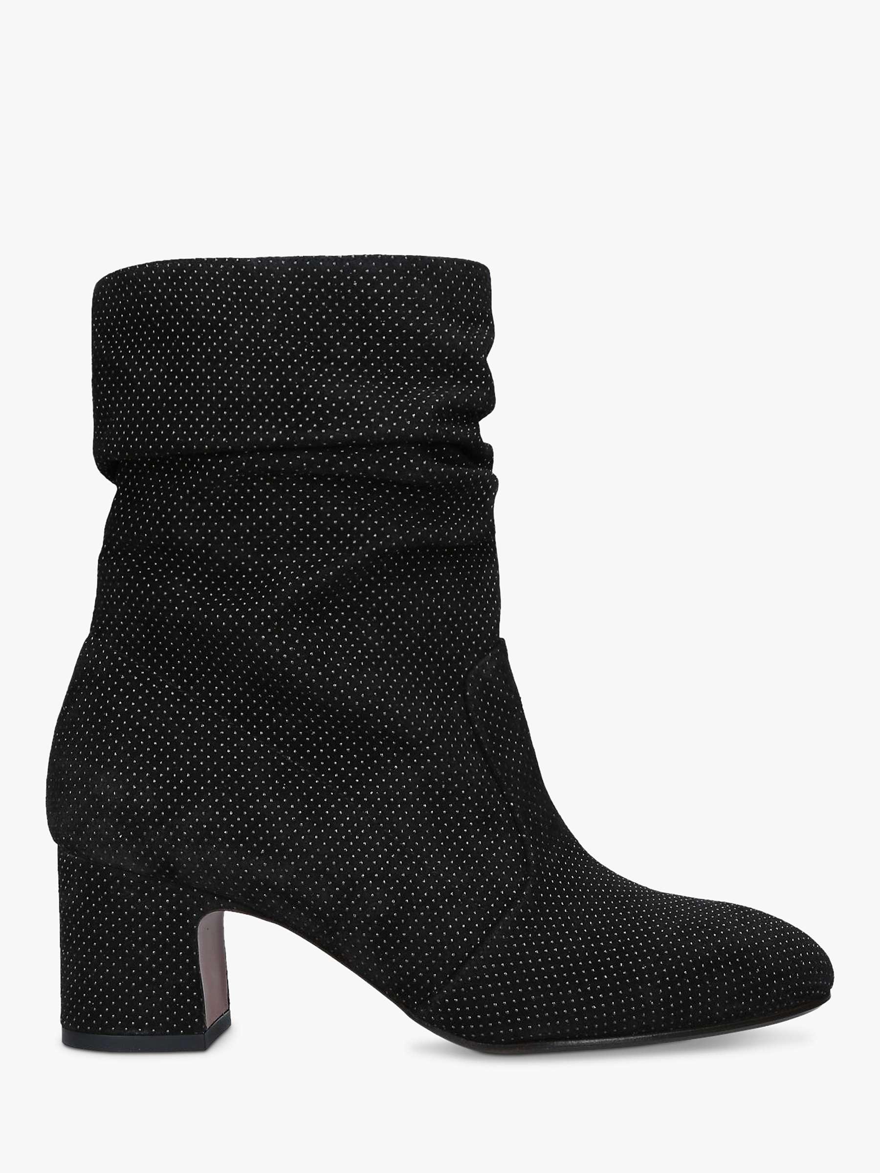 Chie Mihara Edil 35 Block Heel Suede Ankle Boots, Black by John Lewis