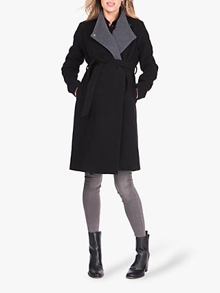 Séraphine Donatella Maternity Coat, Black/Charcoal