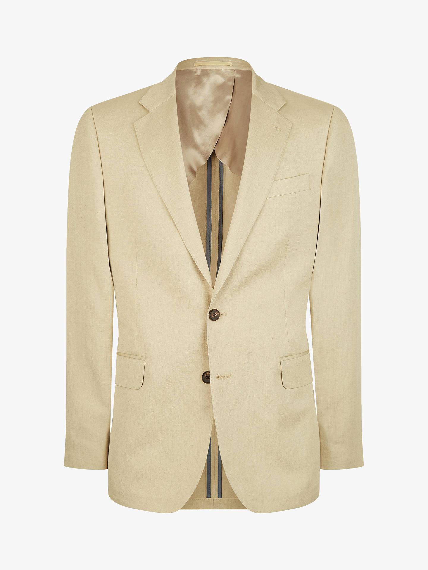 d73abeb65 Jaeger Silk Linen Regular Fit Suit Jacket, Cream