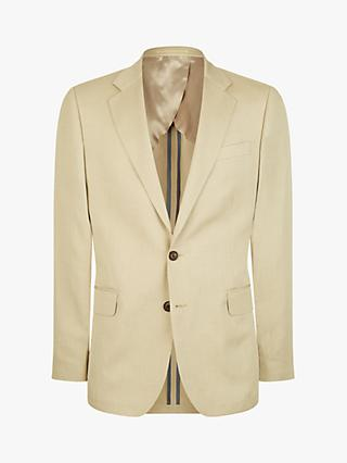 Jaeger Silk Linen Regular Fit Suit Jacket, Cream