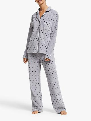 DKNY Stretch Fleece Pyjama Set, Grey