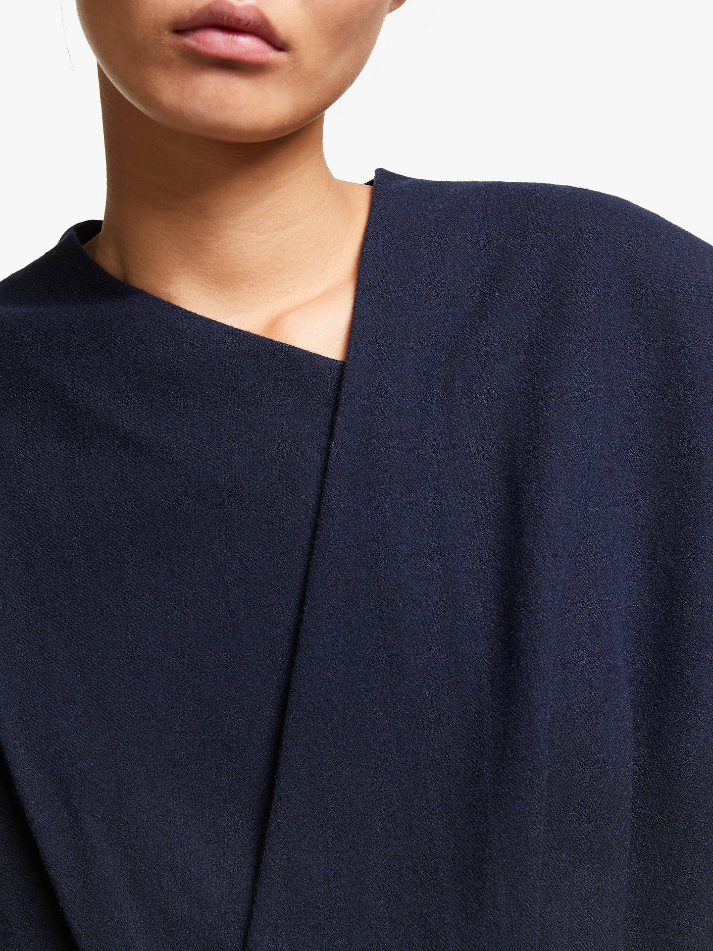 Buy Kin Wool Blend Blanket Wrap Top, Blue, 8 Online at johnlewis.com