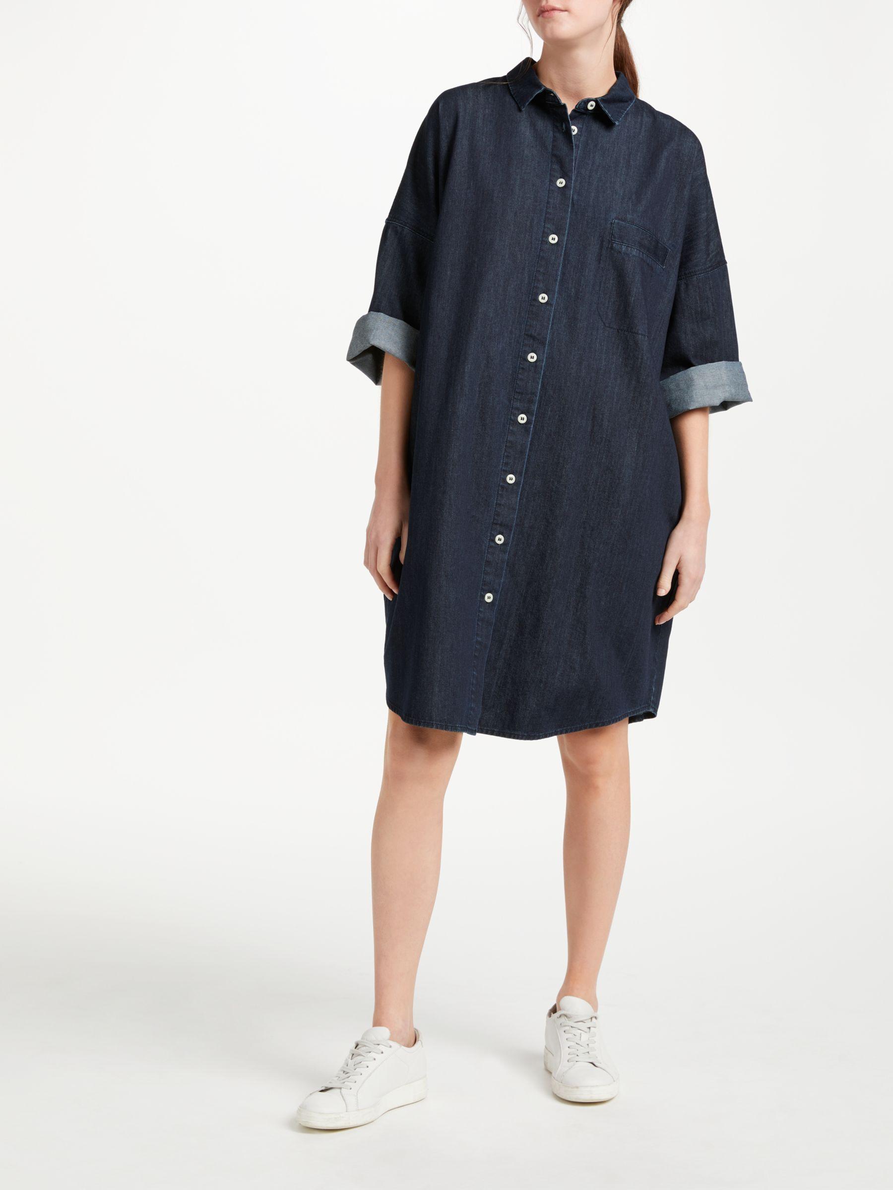 Kin Kin Denim Shirt Dress, Blue