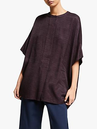 Kin Jacquard Oversized Shirt, Dark Purple