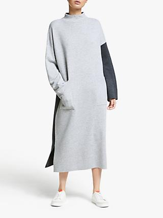 Kin Colour Block Knitted Dress, Grey