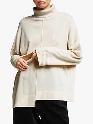 Kin Asymmetric Roll Neck Jumper