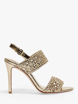 1581f57e30a3 Karen Millen Woven Stiletto Heel Sandals