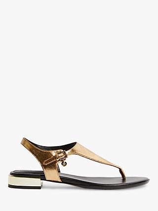 dfa3357e5 Karen Millen Metallic Block Heel Sandals