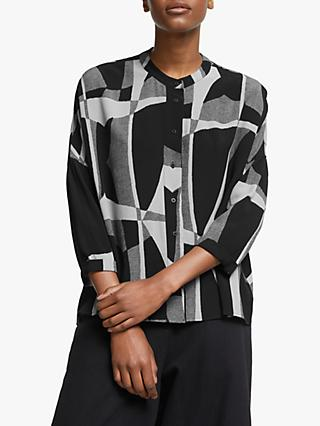 Kin Ruku Print Oversized Shirt, Black