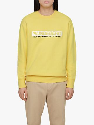 J.Lindeberg Seasonal Graphics Sweatshirt, Butter Yellow