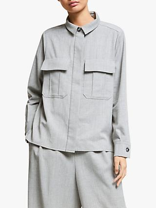 Kin Wool Utility Shirt, Grey