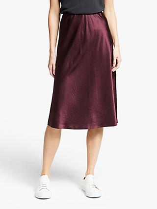Modern Rarity Satin Bias Skirt