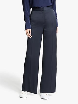 Modern Rarity Satin Wide Leg Trousers, Blue