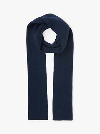 John Lewis & Partners Ribbed Cashmere Scarf