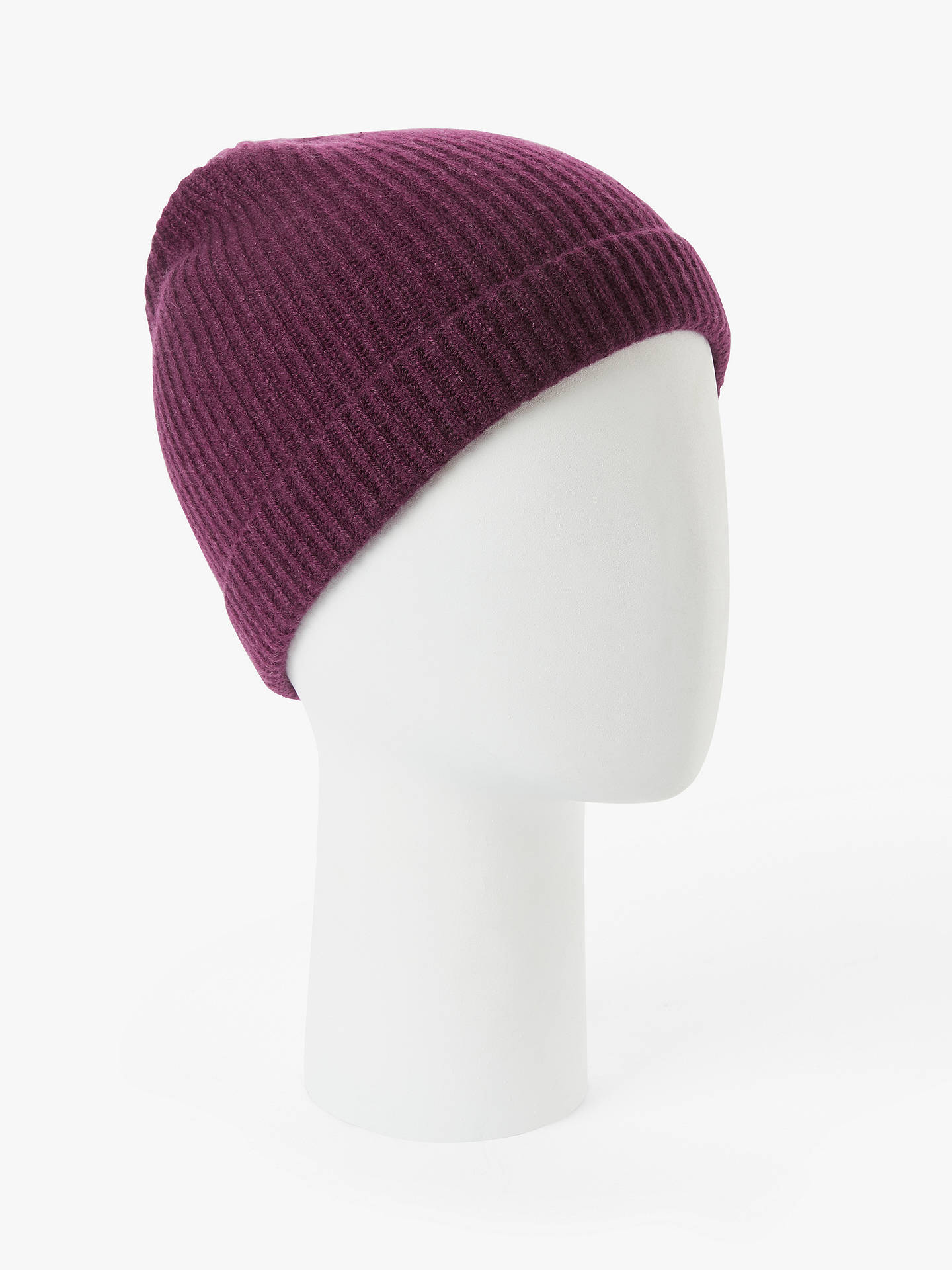 Buy John Lewis & Partners Cashmere Beanie, Red Online at johnlewis.com