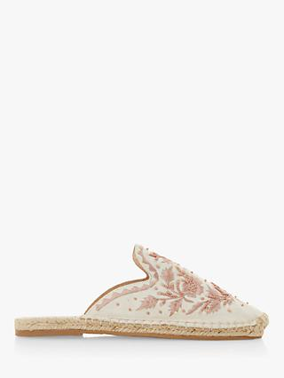 Bertie Goste Canvas Embellished Mules