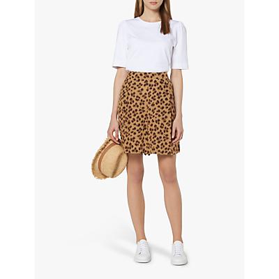L.K.Bennett Roman Leopard Print Shorts, Brown