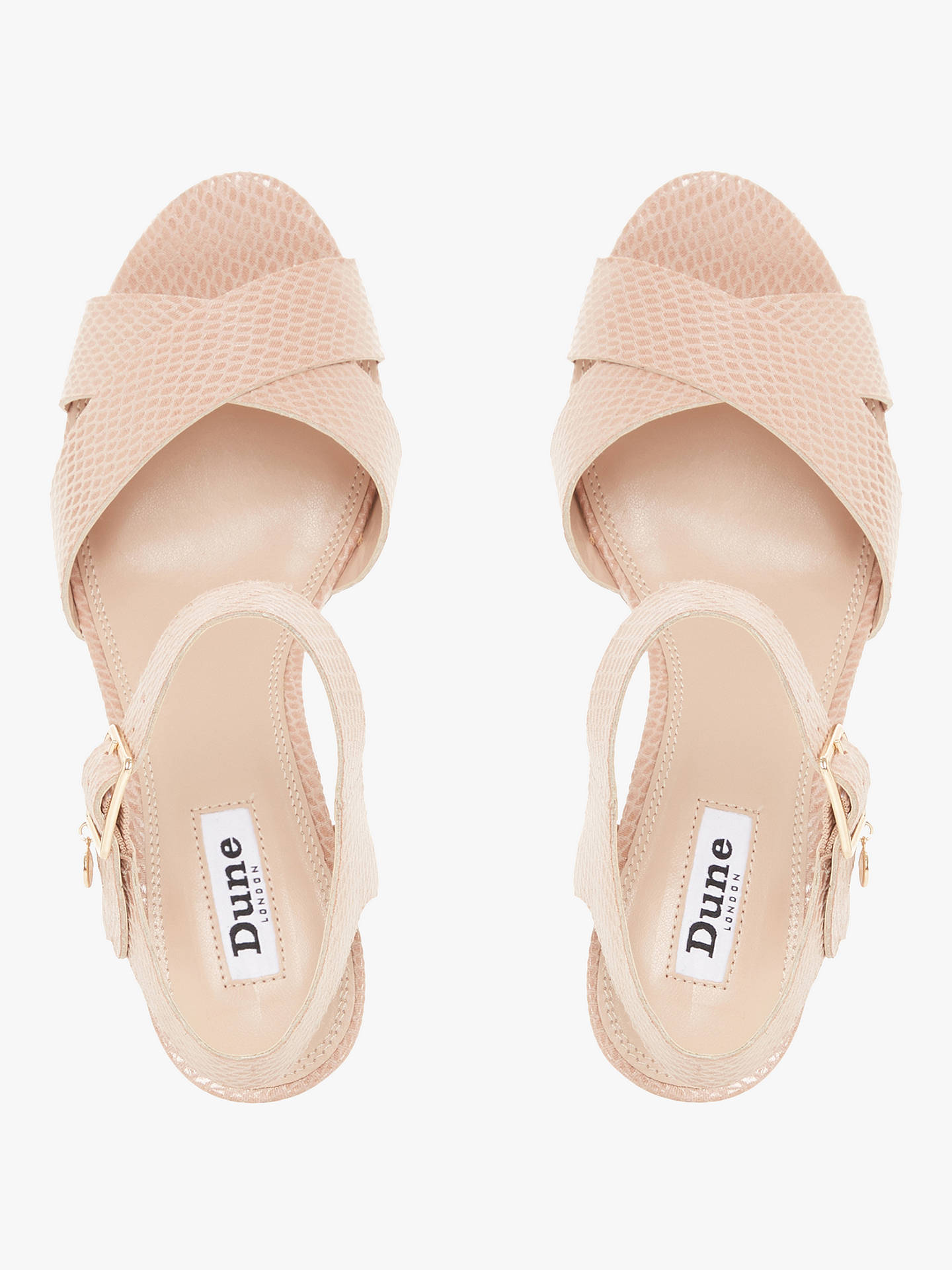 Buy Dune Iylene Reptile Cork Heel Sandals, Nude, 8 Online at johnlewis.com