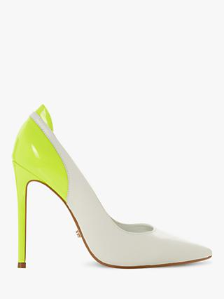 Dune Barbee Leather Stiletto Heel Court Shoes