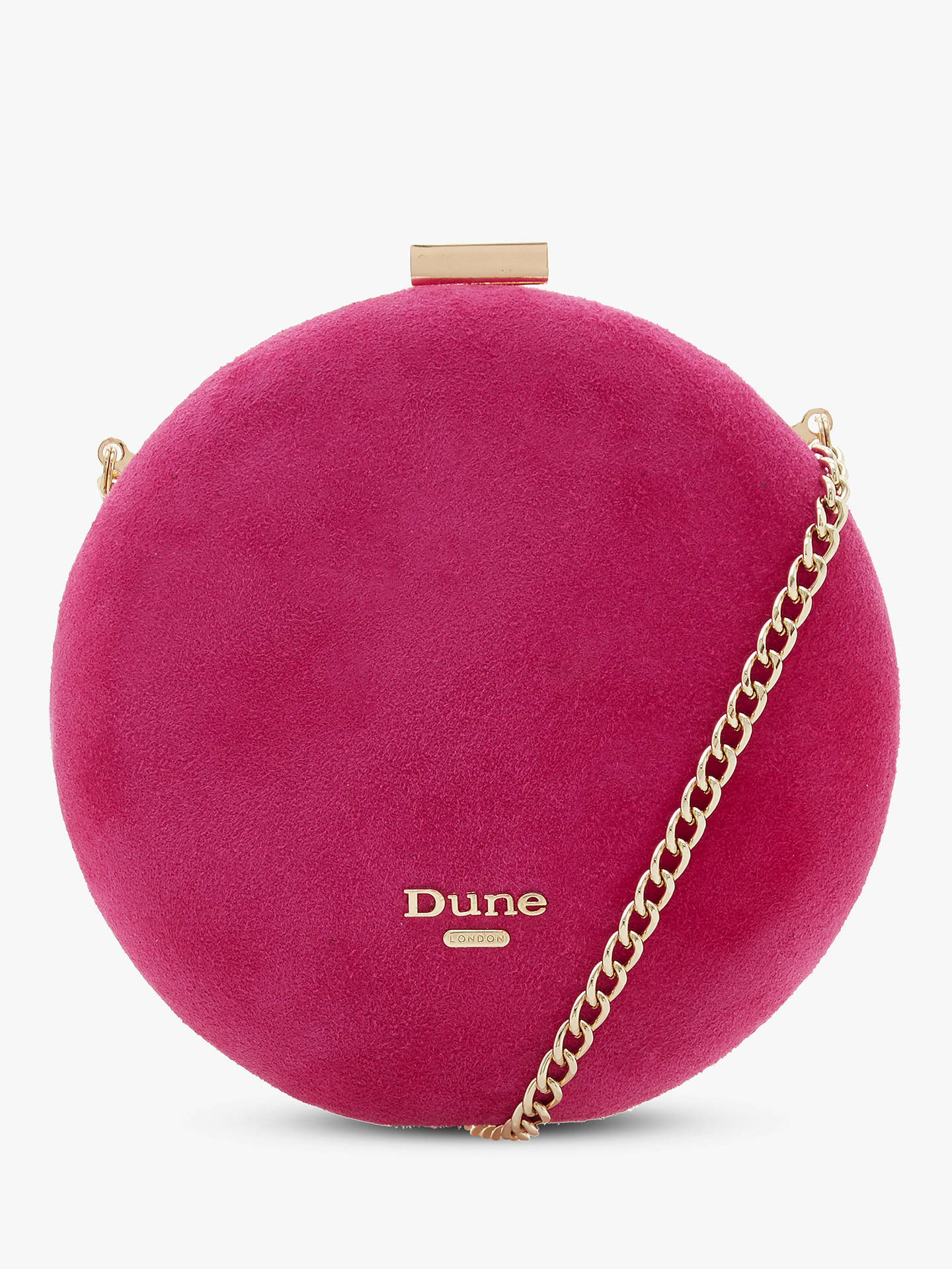 Buy Dune Beautey Circle Clutch Bag, Pink Online at johnlewis.com