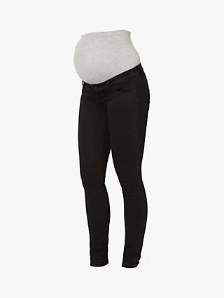 Mamalicious Lola Slim Fit Maternity Jeans, Black