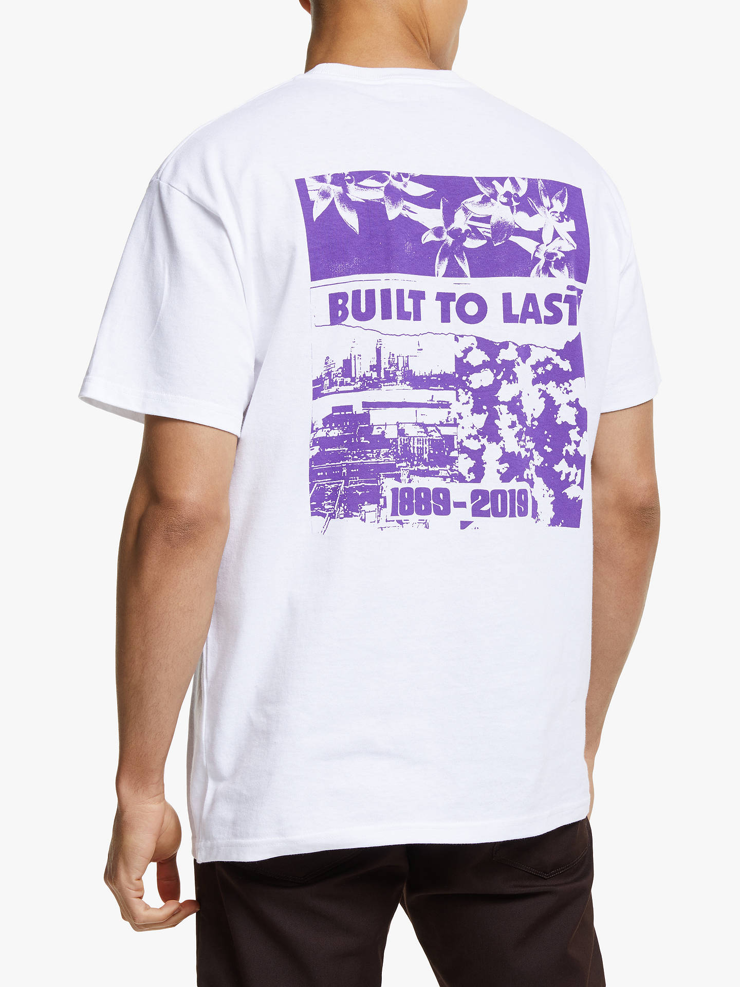 Buy Carhartt WIP Built To Last Logo T-Shirt, White/Blue, S Online at johnlewis.com