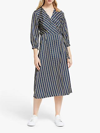 Numph Lynwen Striped Dress, Sapphire