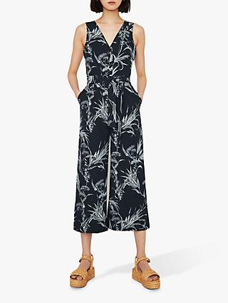 aafe03809a46 Warehouse Leaf Print Culotte Jumpsuit