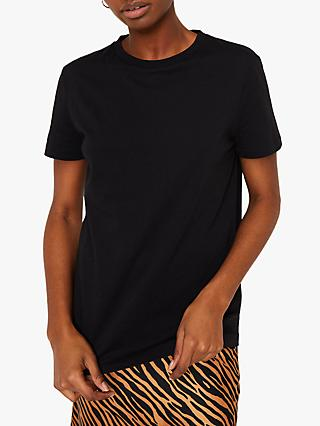 Warehouse Oversized Cotton T-Shirt, Black