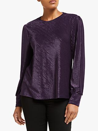 Collection WEEKEND by John Lewis Kyhle Velvet Stripe Blouse