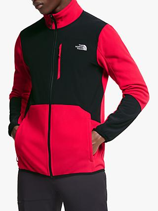 The North Face Glacier Pro Full Zip Men's Fleece Jacket, TNF Red/TNF Black