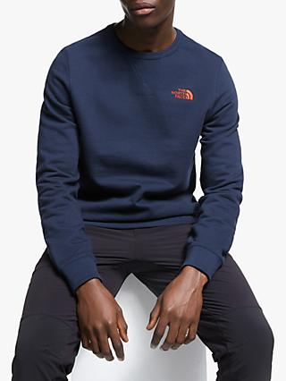 The North Face Logo Embroidery Sweatshirt, Montague Blue